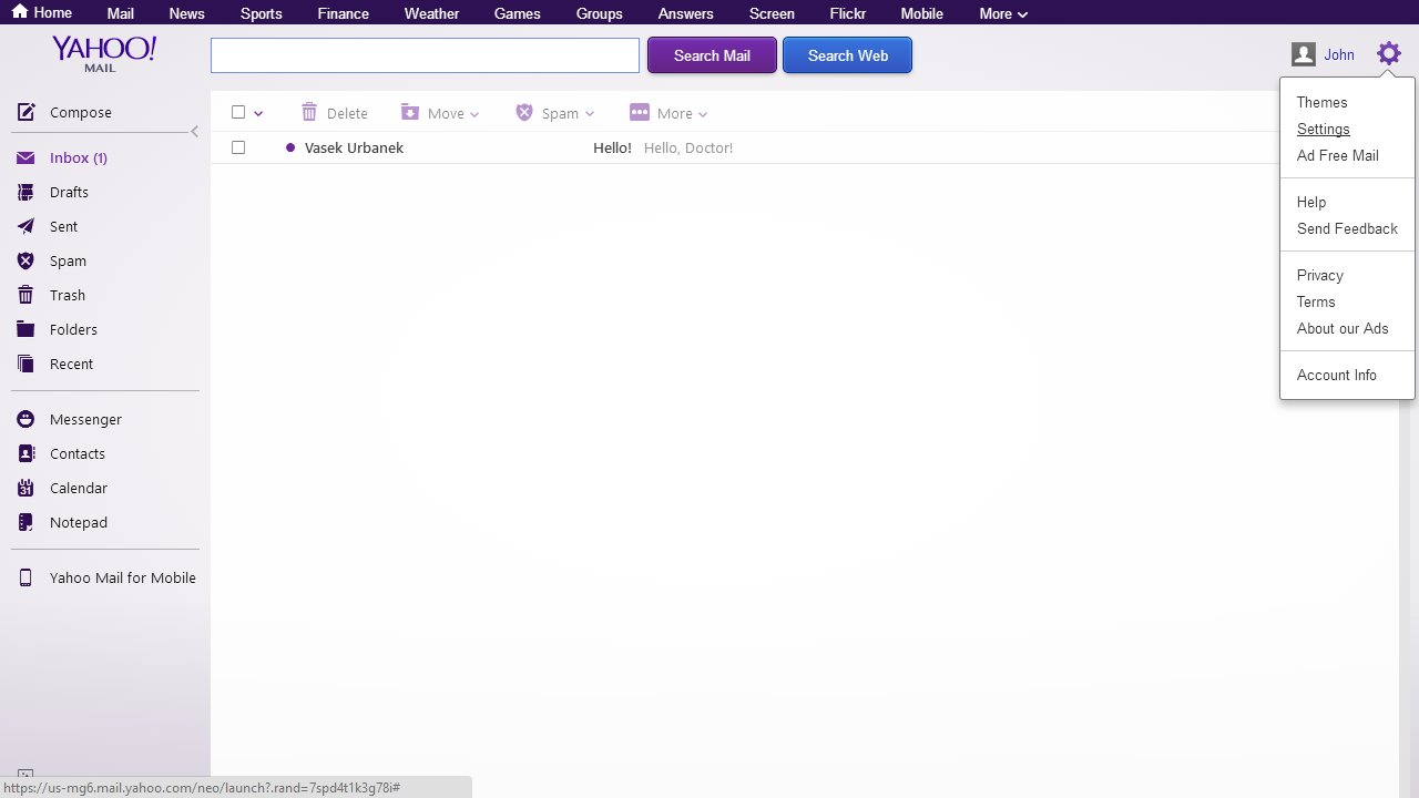 Setting Your Own Sender Adress for Yahoo Mail