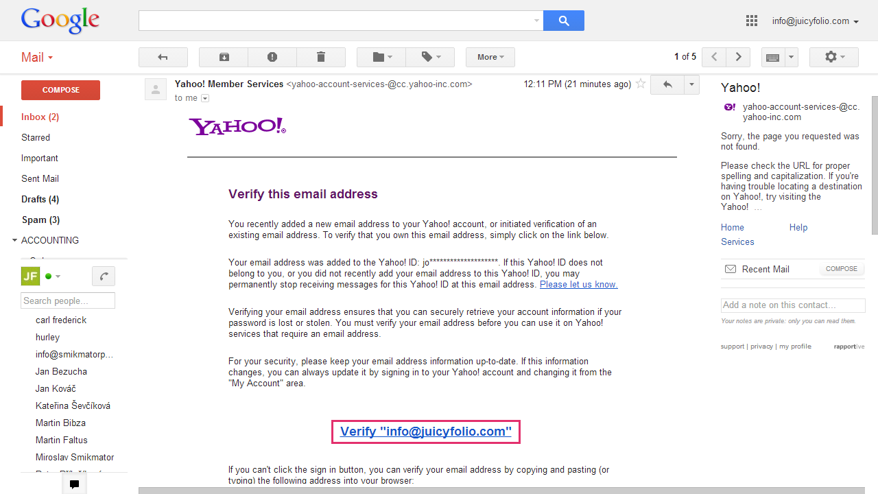 Setting Your Own Sender Adress for Yahoo Mail - Emails